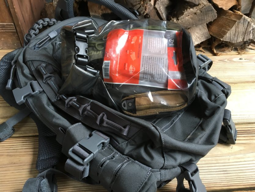 Turn your existing bag or backpack into a go bag with this auxiliary kit